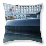 Main Fountain State Capital Throw Pillow