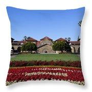 Main Quad Stanford California Throw Pillow