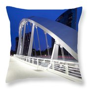 Main Street Bridge Throw Pillow