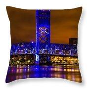 Main Street Bridge Jacksonville Florida Throw Pillow