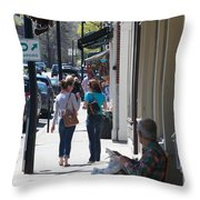 Main Street Concord Throw Pillow by Allan Morrison