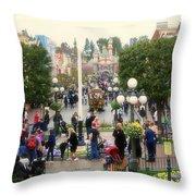 Main Street Disneyland 02 Throw Pillow