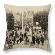Main Street Disneyland Heirloom Throw Pillow