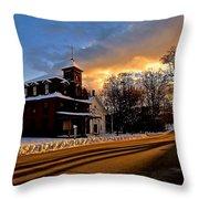 Main Street In Tamworth Nh Throw Pillow