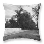 Main Street Fort Apache Throw Pillow