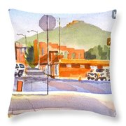 Main Street In Morning Shadows Throw Pillow