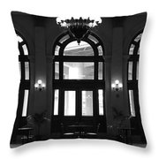 Main Street Station Throw Pillow