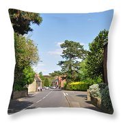 Main Street -ticknall Village Throw Pillow