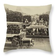 Main Street Transportation Disneyland Heirloom Throw Pillow