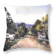 Main Street Ukarumpa Throw Pillow