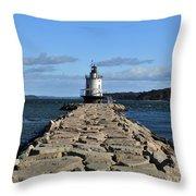 maine 43 Portland Lighthouse Throw Pillow