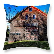 Maine Barn Throw Pillow