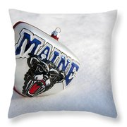 Maine Black Bears Ornament Throw Pillow