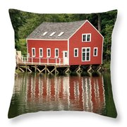 Maine Boat House Throw Pillow