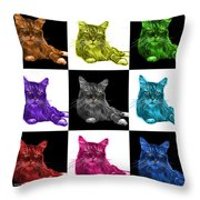 Maine Coon Cat - 3926 - V1 - M Throw Pillow