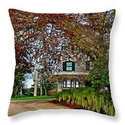 Maine Cottage In Spring Throw Pillow