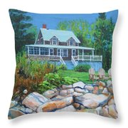 Maine Cottage Throw Pillow