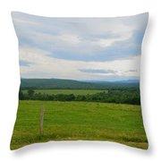 Maine Farmland Throw Pillow