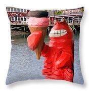 Maine Ice Cream Throw Pillow