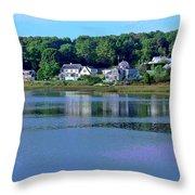 Maine Lakefront Throw Pillow