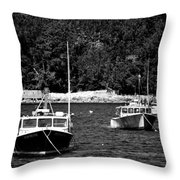 Maine Lobster Boats Throw Pillow