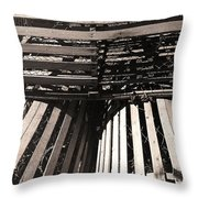 Maine Lobster Traps Throw Pillow