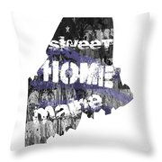 Maine Map Cool Throw Pillow
