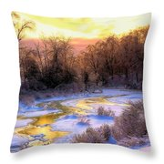 Maine Morning Inspiration Throw Pillow