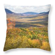 Maine Mountains In Fall Mount Blue State Park  Throw Pillow