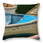Maine Rowboats Throw Pillow