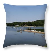 Maine Seascape Throw Pillow