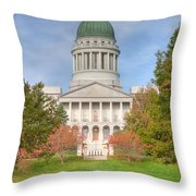 Maine State House I Throw Pillow