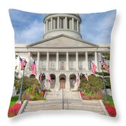 Maine State House V Throw Pillow