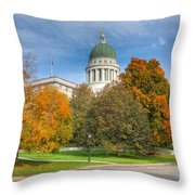 Maine State House Vii Throw Pillow