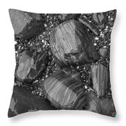 Maine Stones Throw Pillow
