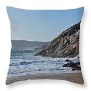 Maine Surfing Scene Throw Pillow