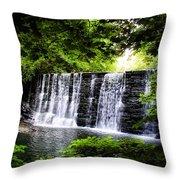 Mainline Waterfall Throw Pillow