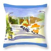 Main Street In Evening Shadows Throw Pillow
