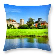 Maisemore Court And Church 2 Throw Pillow