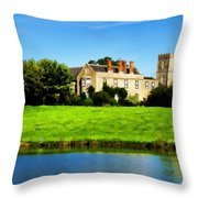 Maisemore Court And Church Throw Pillow