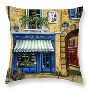 Maison De Vin Throw Pillow