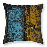 Maize And Blue 2 Throw Pillow