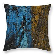 Maize And Blue Throw Pillow