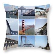 Majestic Bridges Of The San Francisco Bay Area Throw Pillow