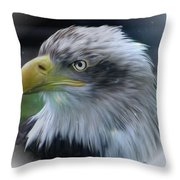 Majestic Eagle Of The Usa - Featured In Feathers And Beaks-comfortable Art And Nature Groups Throw Pillow