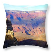 Majestic Grand Canyon Throw Pillow by Janice Sakry