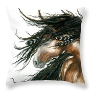 Majestic Pinto Horse 80 Throw Pillow