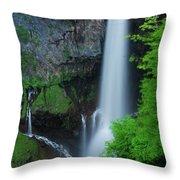 Majestic Kegon Falls Throw Pillow