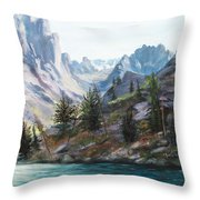 Majestic Montana Throw Pillow