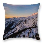 Majestic Mount Baker Sunrise Light Throw Pillow